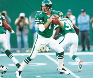 Boomer Esiason with the Jets