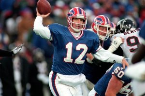 One of the greatest quarterbacks of all-time - certainly in AFC history - Jim Kelly led Buffalo to a record four consecutive Super Bowl appearances, though the Bills were unable to win any of those games.