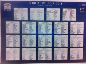 serie a schedule