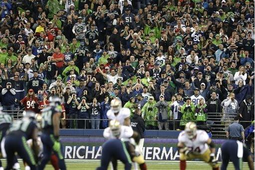 The crowd at CenturyLink Field - despite a lightning delay - were historically loud Monday night.