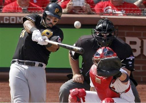 Pedro Alvarez doing Pedro Alvarez things. Photo Credit: AP Photo/Sarah Conard