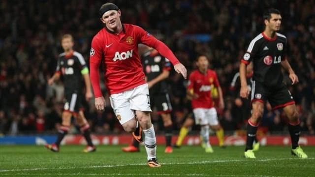 Rooney goal vs Leverkeusen