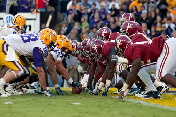 I'll leave you all with this, an image to remind you that the SEC brings us another great matchup as an age-old rivalry is renewed between LSU and Alabama.
