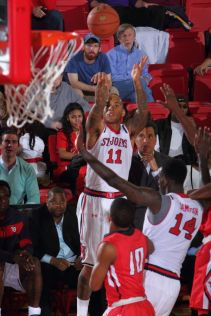 D'Angelo Harrison set the 3-point field goal record at St. John's today as the Johnnies defeated Youngstown State in Queens. Photo Courtesy: St. John's Athletic Communications