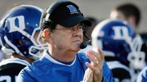 "You're darned right I passed up the opportunity to go with a Johnny ""Football"" Manziel picture right here. Let's show David Cutcliffe some love for what he's been able to do in Durham."