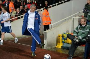 Jose having himself a little kick-about prior to the Capitol One Cup tie versus Arsenal in October