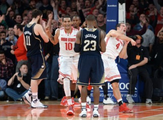 It was a thriller at Madison Square Garden as Notre Dame let the game slip away and Ohio State clawed their way back to win. Photo Credit: Joe Camporeale-USA TODAY Sports
