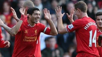 Luis Suarez, not biting anyone.