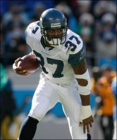 Shaun Alexander, (I think) from when he wasn't a good Seattle Seahawk