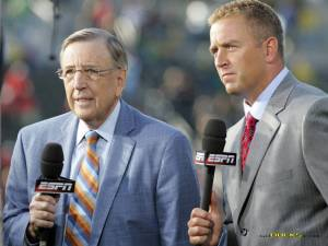 "Brent Musburger and Kirk Herbstreit, undeniably ESPN's ""A-Team,"" will be on the call on Monday."