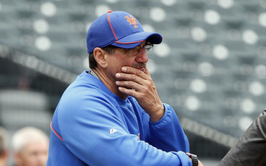Former Mets Hitting Coach Dave Hudgens, who was axed following the Mets' Memorial Day loss to the Pirates.