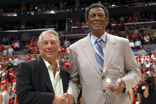 From left, Donald Sterling and Elgin Baylor in a time long, long ago before they entered the courtroom on opposite sides.