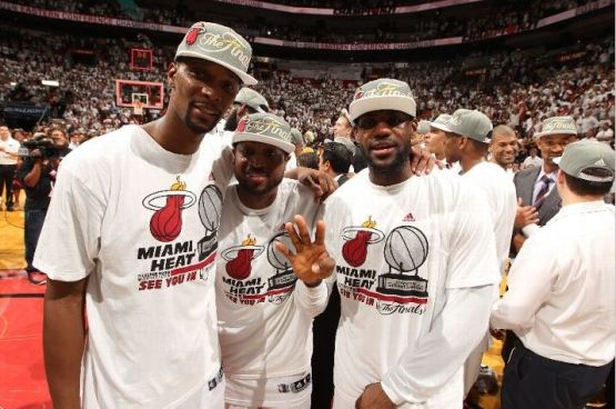 Not a surprise by any stretch of the imagination, but it was good to see the Heat subdued in their celebration of winning the series. It's never been about beating the Pacers for them. It's about getting another ring. Photo Credit: Issac Baldizon/NBAE via Getty Images