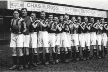 The 1930 Hull City squad, the last to reach the FA Cup semifinal, and who lost to Arsenal.