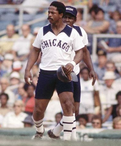 My Dad said he saw Lamar Johnson hit a couple homers in a game against the Mariners in 1977. So there's that. Oh, and these are baseball uniforms that the White Sox used to wear.