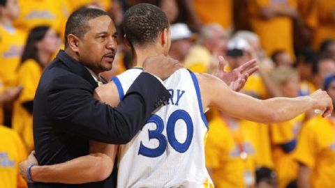 Mark Jackson with Stephen Curry