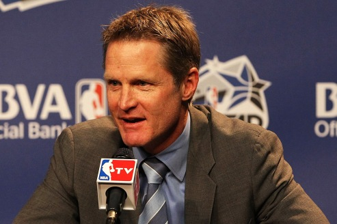 The new Head Coach of the Golden State Warriors, Steve Kerr