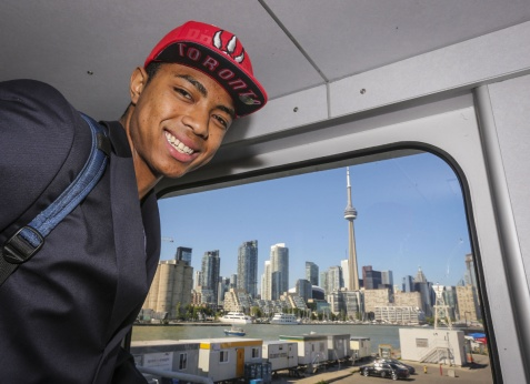 HE'S TALLER THAN THE CN TOWER??? Okay, I think I understand why Masai Ujiri selected this kid.