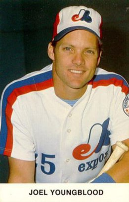 Whoa Joel Youngblood just get big points for having worn these beautiful Expos jerseys