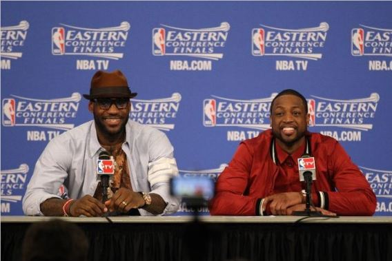 It's a lot easier to dress like this when you're playing well and winning. We'll see what comes about here in the Finals. Photo Credit: Issac Baldizon/NBAE via Getty Images