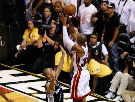 The stuff of legend, Ray Allen's 3-pointer from the corner in Game 6 of last season's NBA Finals. Photo Credit: Kevin C. Cox/Getty Images