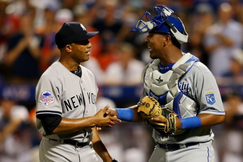 In last season's All-Star Game, Salvador Perez had a chance to catch Mariano Rivera in his final ASG apperance