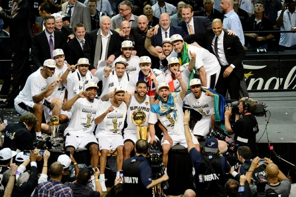 Your 2014 NBA Champions, the San Antonio Spurs