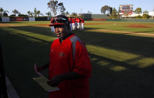 Gwynn certainly also deserves recognition for his time as the San Diego State Aztecs head baseball coach. Gwynn is seen here prior to a game on May 15, 2012 against Loyola Marymount. Photo Credit: K.C. Alfred