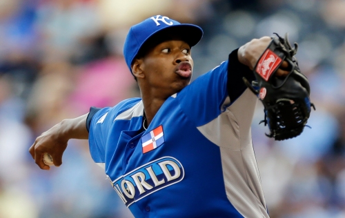 Yordano Ventura, seen here starting for the World side in the 2013 Futures Game, has been a bright spot among the Royals rotation this season.