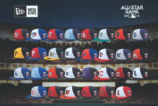 All Star Game On-field caps