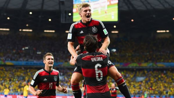 There was much joy among the German side on Tuesday as they defeated Brazil 7-1. Photo Credit: Buda Mendes/Getty Images