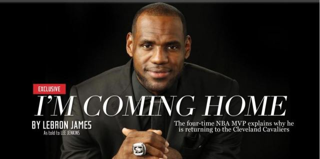 LeBron I'm Coming Home Sports Illustrated