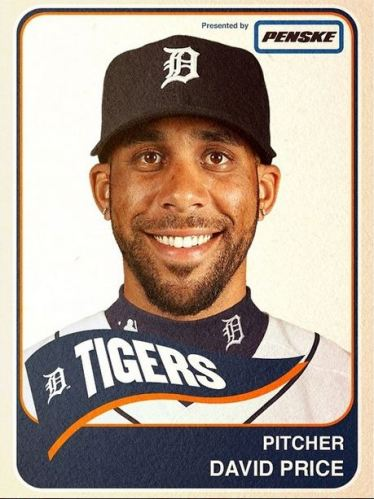 David Price Tigers MLB Instagram