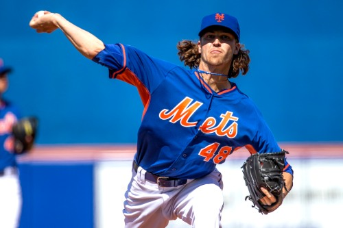 Jacob deGrom is yet another young man in baseball who could use a haircut, but hey maybe I'm just old fashioned. Photo Credit: Anthony Causi