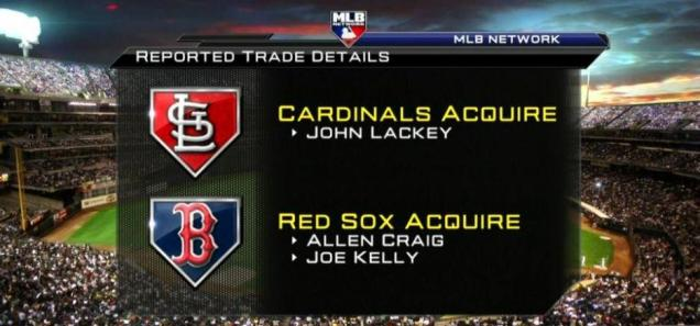 The John Lackey trade, detailed graphically via MLB Network.