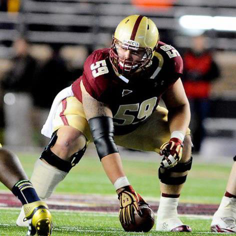 First-team All-ACC center Andy Gallik, the No. 4 ranked center by Mel Kiper Jr, leads a talented offensive line that is key to the BC running game.
