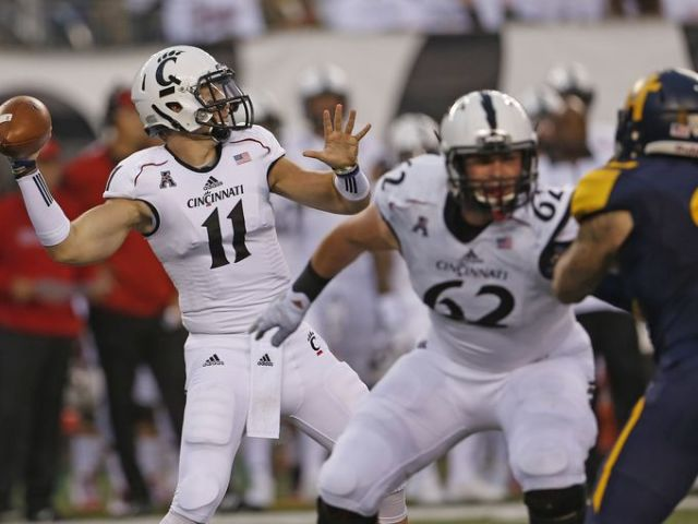 Another quarterback to have transferred, Gunner Kiel will look to guide the Bearcats of Cincinnati to victory over Frank Beamer's VIrginia Tech squad.