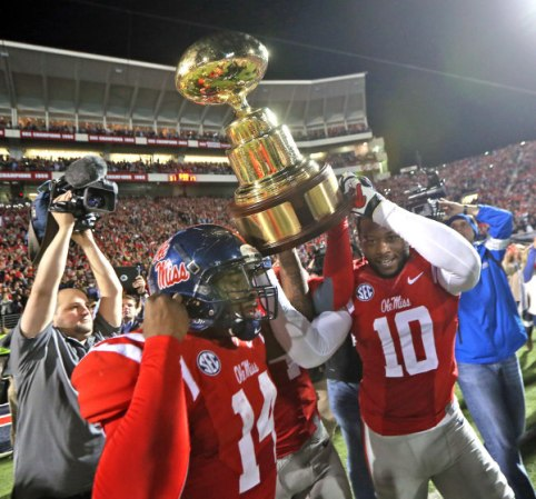 This season, Ole Miss was able to reclaim the Golden Egg Trophy after their Egg Bowl win over Mississippi State. Photo Courtesy of Ole Miss Athletics and OleMissSports.com