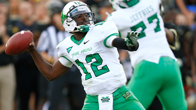 The Thundering Herd will be led by their stud quarterback Rakeem Cato as they take on the Huskies of NIU.