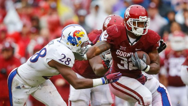 You remember when Melvin Gordon went next level and set the single game rushing record vs. Nebraska? Yeah, well the next week Oklahoma freshman RB Semaje Perine broke that record in a 44-7 rout of Kansas.