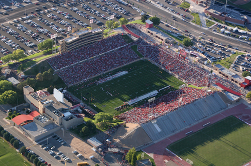University Stadium in Albuquerque, with a seating capacity of 37,457, will serve as the home of the Gildan New Mexico Bowl. Photo courtesy of the official website of the Gildan New Mexico Bowl.